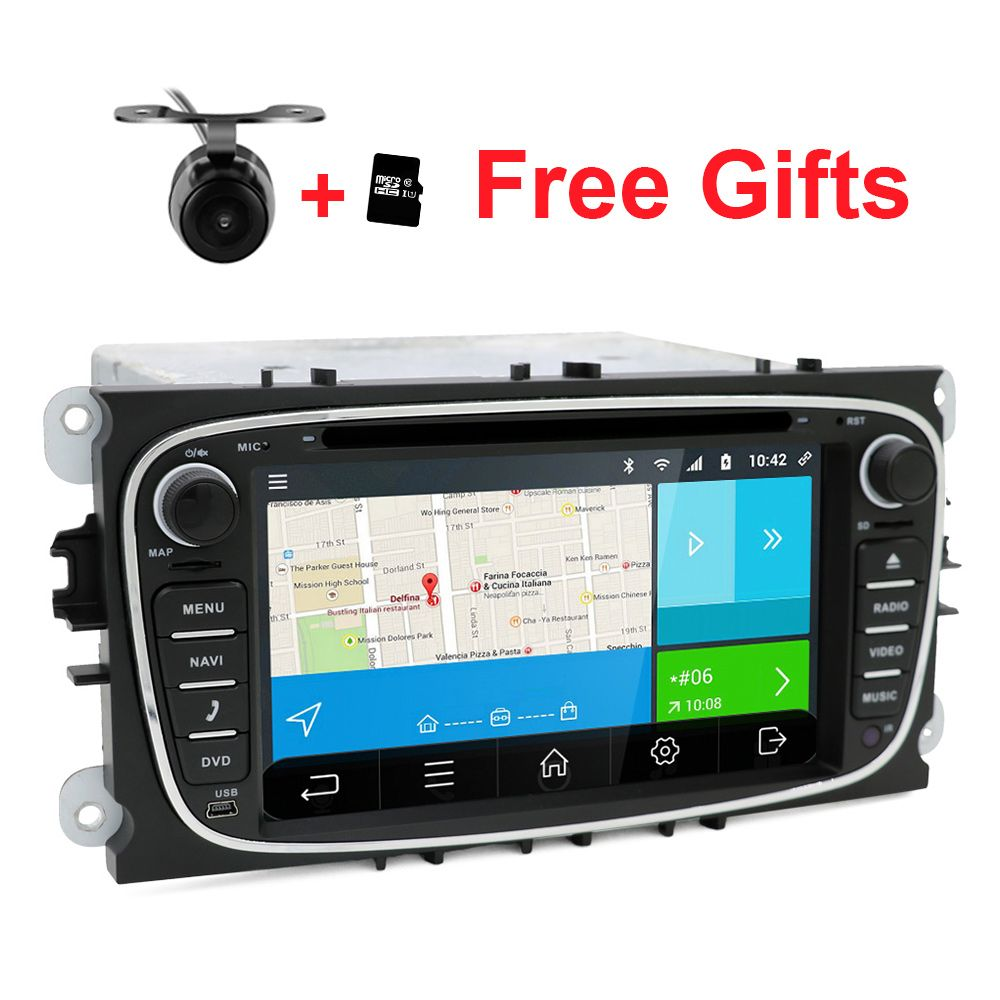 2 din android 6 0 quad core car dvd player gps navi for ford focus galaxy with