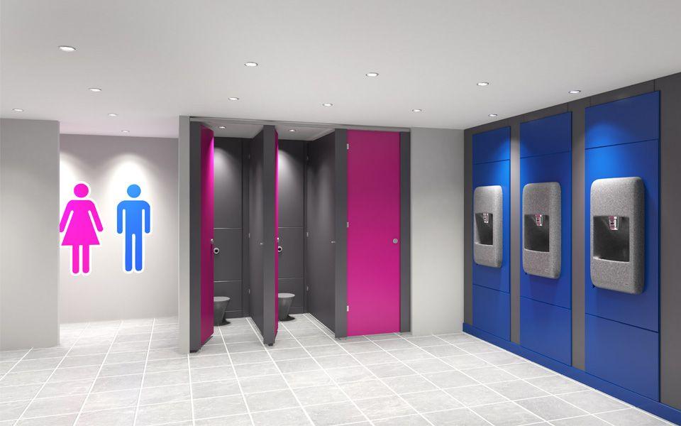 3drender Of Unisex Bathroom Toilet Washroom 厕所