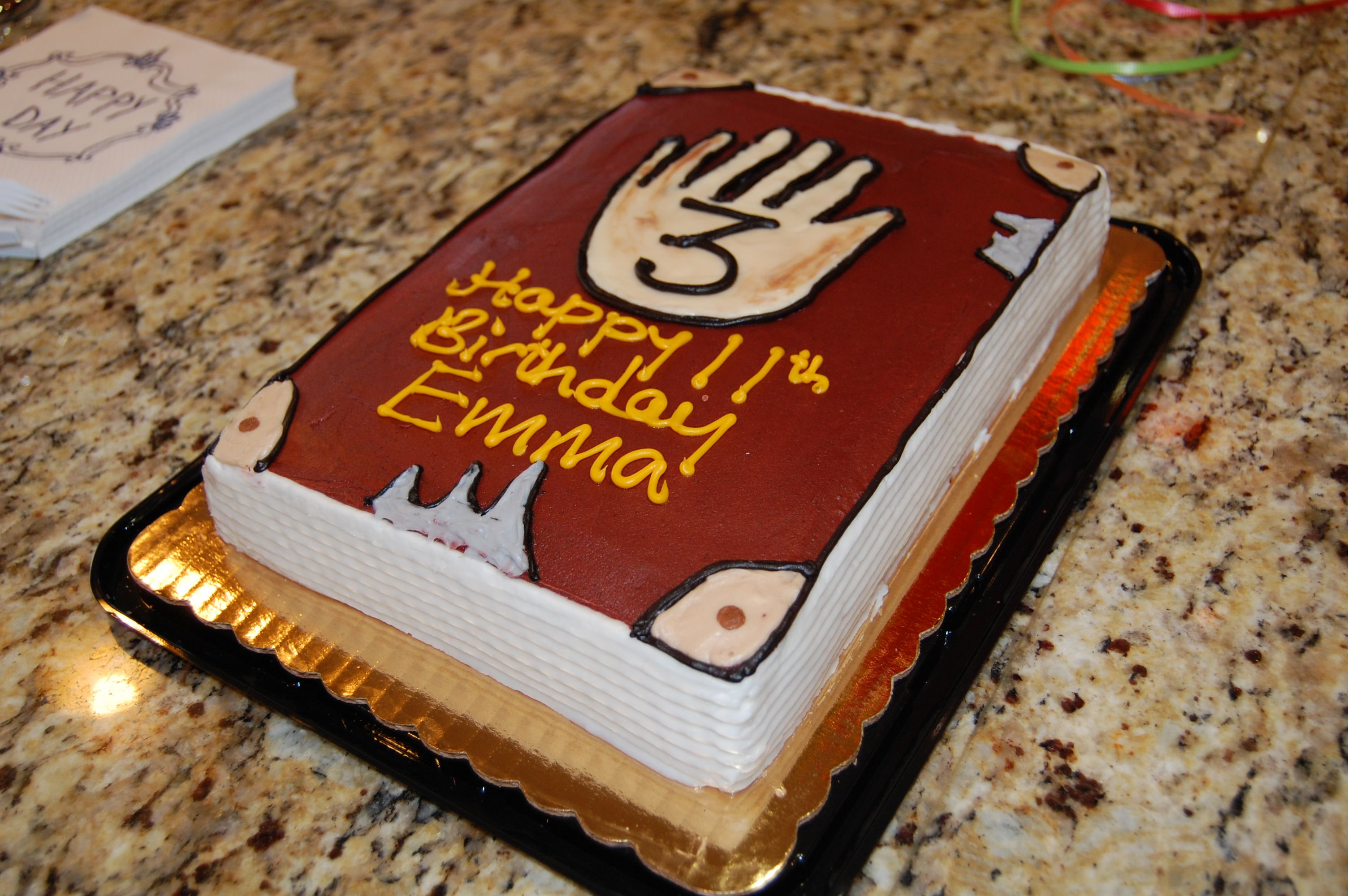 Cake from Harris Teeter Journal 3 Gravity Falls Party