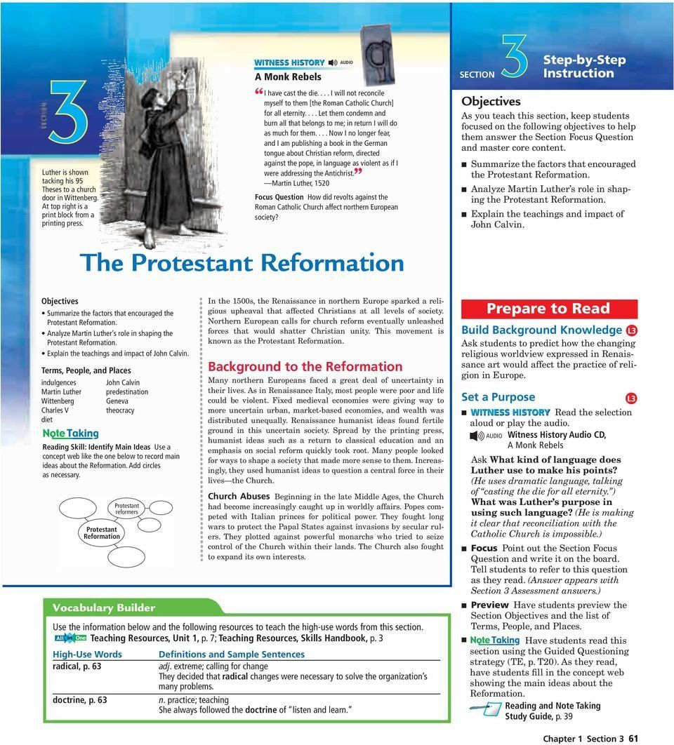 Protestant Reformation Worksheet Answers The Protestant Reformation Pdf Free Download In 2020 Protestant Reformation Reformation Answers