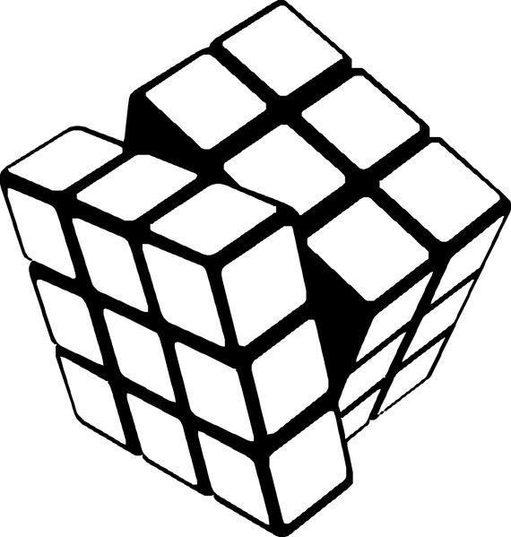 Vinyl wall decal sticker Rubiks Cube Vinyl Decal wall