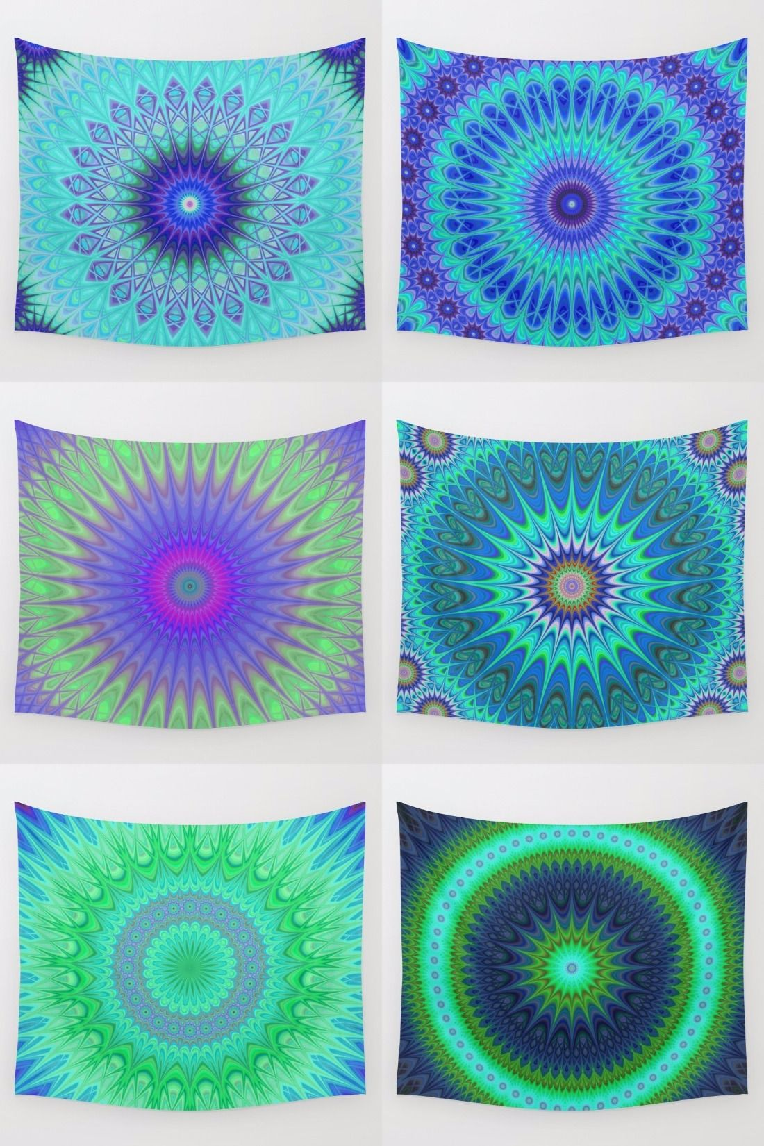 Cold - winter mandala wall tapestry collection. Mandala - boho chic - hippie - indian - kaleidoscope tapestries - wall hangings.