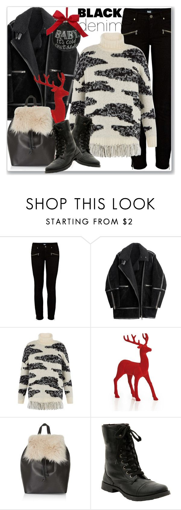 """""""Denim Trend: Black Jeans"""" by andrejae ❤ liked on Polyvore featuring Paige Denim, H&M, Topshop, Sage & Co., women's clothing, women's fashion, women, female, woman and misses"""