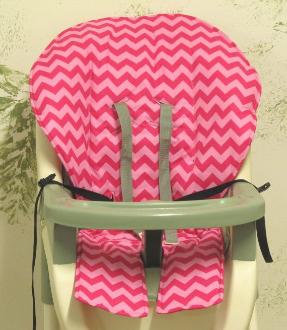 Graco High Chair Cover Pad Replacement Two Tone Hot Pink Etsy Highchair Cover Graco High Chair High Chair