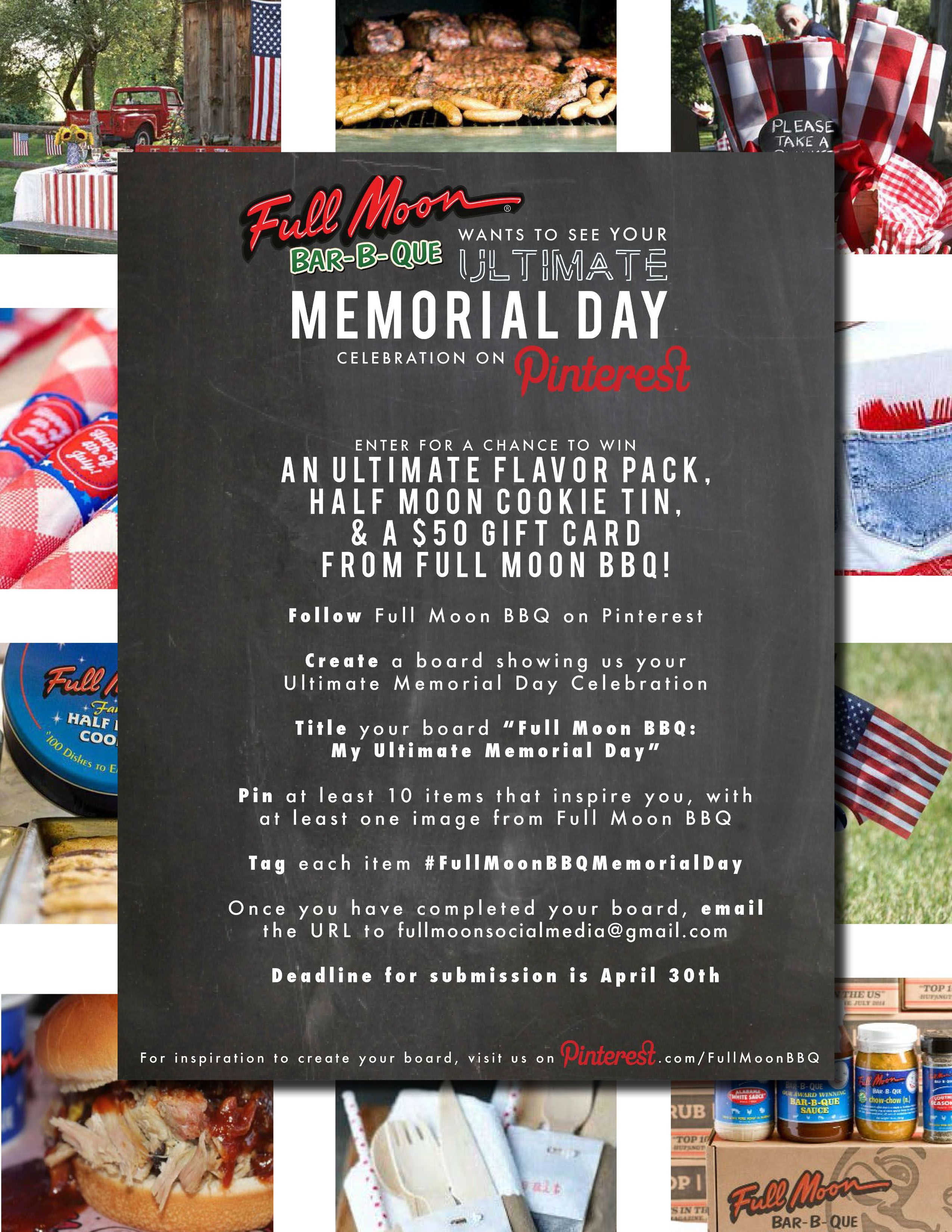 We Want To See Your Ultimate Memorial Day Celebration Pin To Win An Ultimate Flavor Pack Half Moon C Moon Cookies Memorial Day Celebrations Half Moon Cookies
