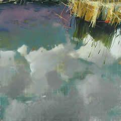 Karen Haynes_Meridian Series: Ripple Pond Reflection & Still Water Refelction    oil on canvas   60 x 60 each
