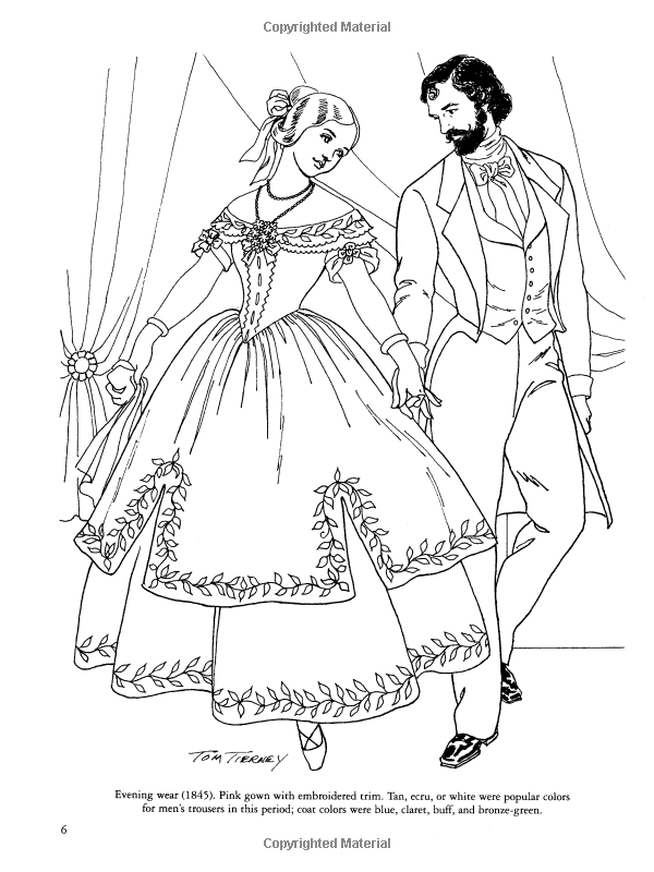 Victorian Fashions Coloring Book (Dover Fashion Coloring Book): Tom ...