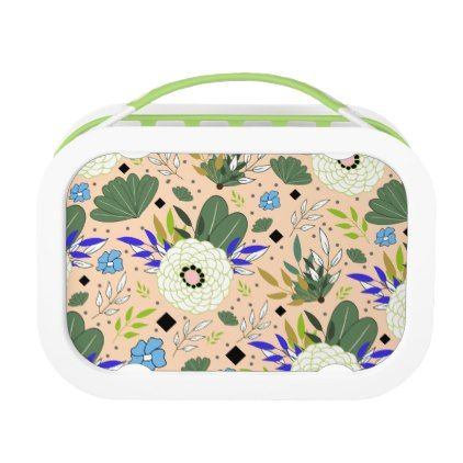 Blush Modern Floral Pattern Lunch Box - kitchen gifts diy ideas decor special unique individual customized