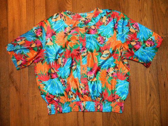 Vintage Tropical Blouse
