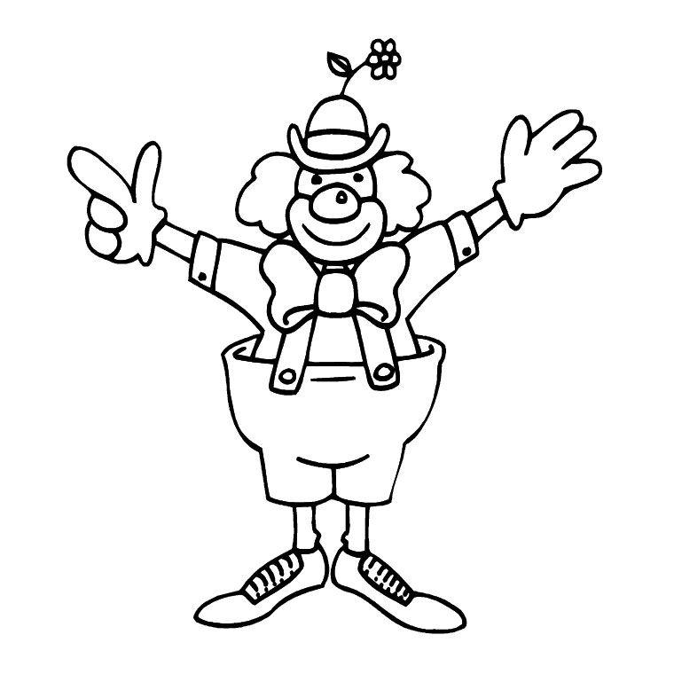 Imprimer Le Coloriage Clown Pour Clique Kleurplaten Clowns Circus