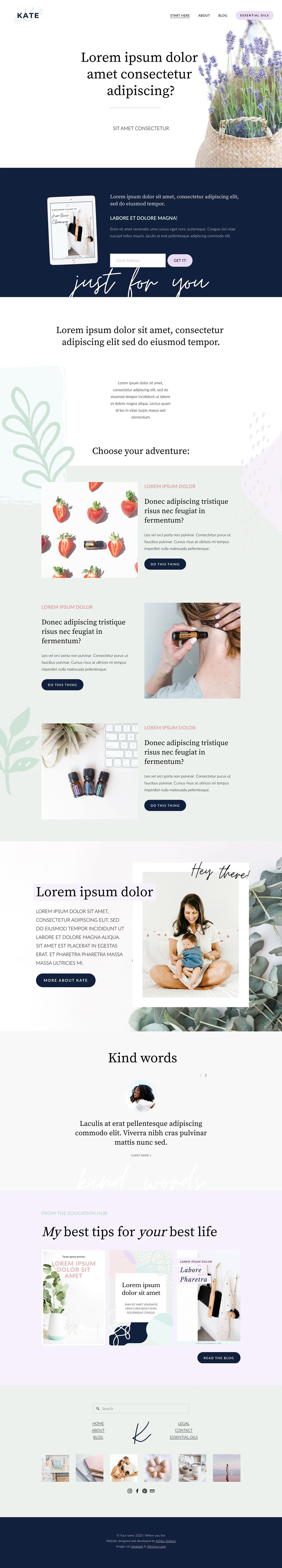 Squarespace 7.1 Template The Kate — Ashley Srokosz in