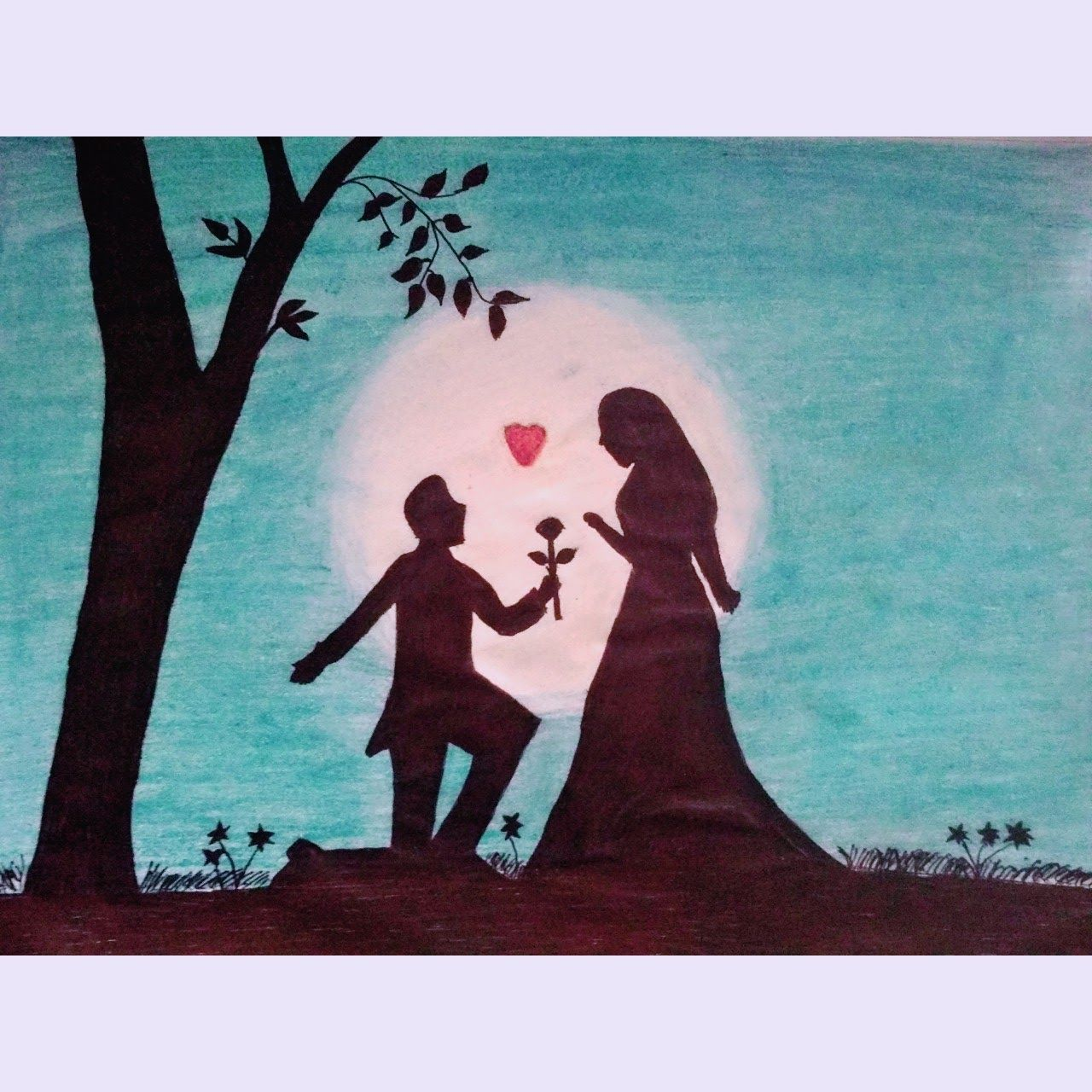 Day S Eye Pencil Sketch Of Romantic Night Love Proposing Sce Romantic Drawing Pencil Art Love Pencil Drawings Of Love