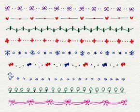 ボールペンイラストの描き方 飾り線 ボールペン イラスト 4色