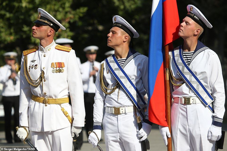 Russian Servicemen Take Part In A Military Parade On Russian Navy Day The Event Honours T In 2020 Navy Day Servicemen Parades
