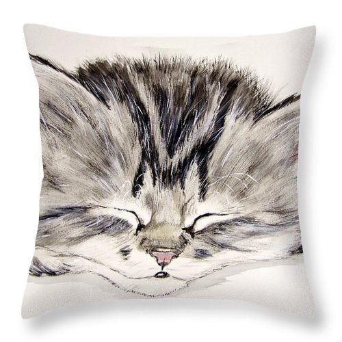 Tabby Kitten Throw Pillow for Sale by Carol Blackhurst