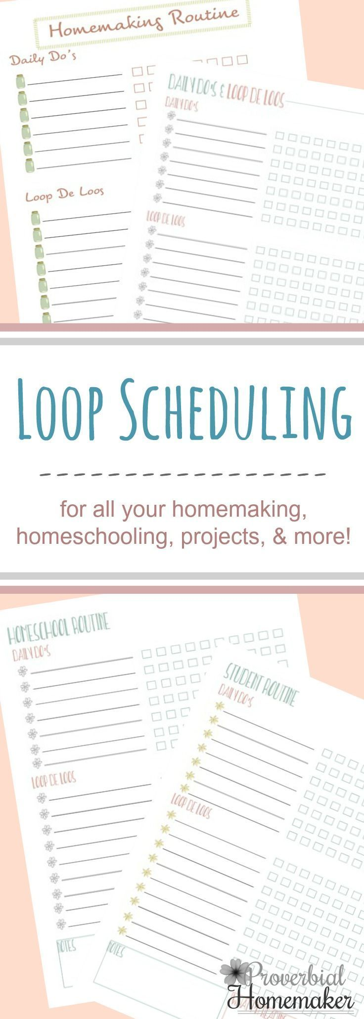 image regarding Loop Schedule Printable called Loop Arranging Printables for Homeschooling A lot more