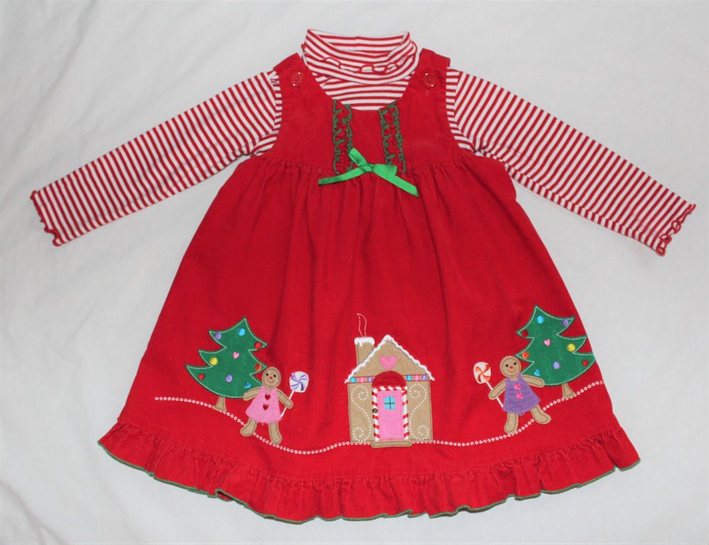 da69bef2881 Girls 4T Christmas Gingerbread Girl Dress Jumper Stripe Shirt 2 PC Sophie  Rose 4  fashion  clothing  shoes  accessories  babytoddlerclothing ...