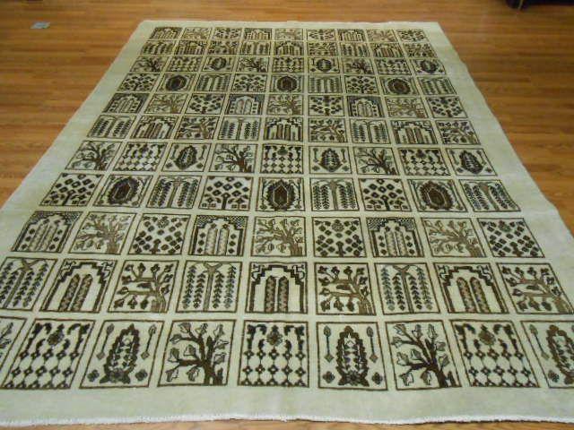 Ca 1930s VEG DYE  PERSIAN ANTIQUE KARACHEH KHOY SERAPI HERIZ  8x10.5 KAZAK RUGU
