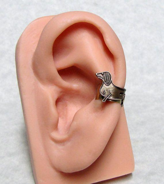 .Dachshund Ear Cuff via Etsy $15.99!.