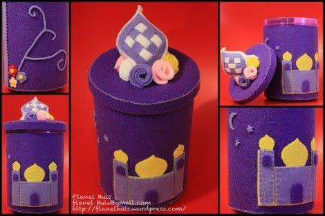 Jar Covers Made From Felt Lebaran Idul Fitri Ungu