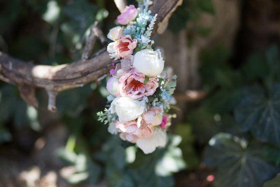 Floral Half Wreath flower head wreath by MagaelaAccessories