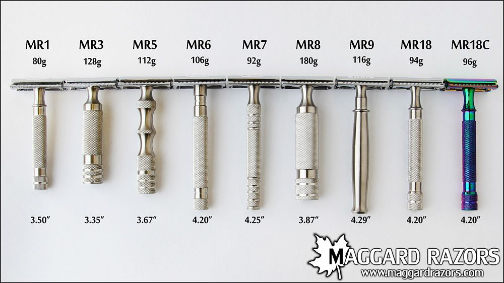 maggard razors de safety razor mr18 stainless steel handle for dad
