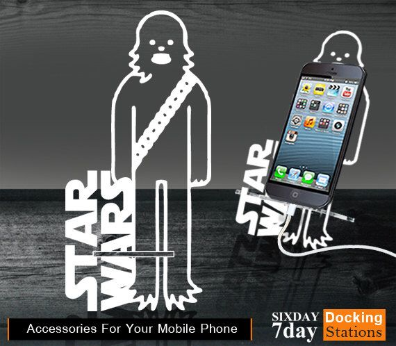 Ac0110 Stand Docking Station - Characters Star Wars for iPhone 4/4S, iPhone 5/5S, iPhone 6 or 6 Plus, iPod mini by Sixday7Day on Etsy https://www.etsy.com/listing/205987585/ac0110-stand-docking-station-characters