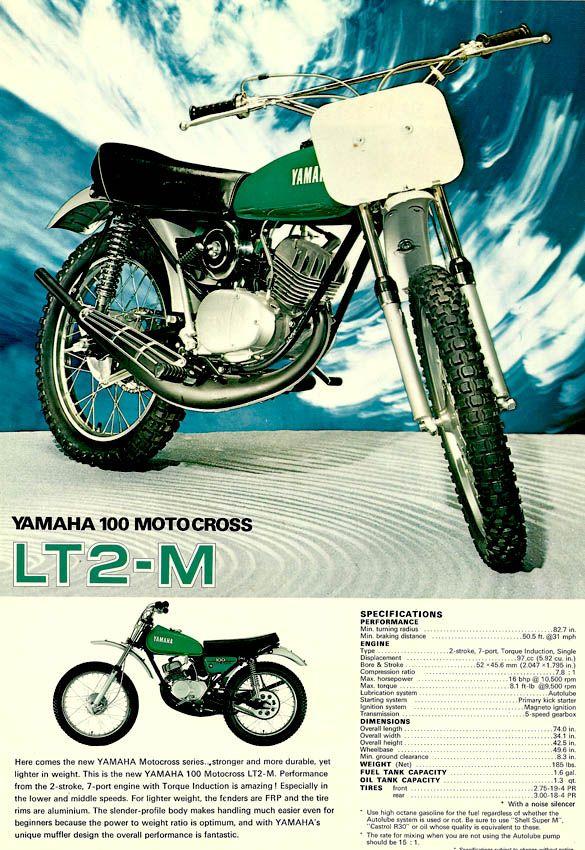 100cc Of Pure Fun Yamaha Motocross Vintage Motocross Motocross Bikes