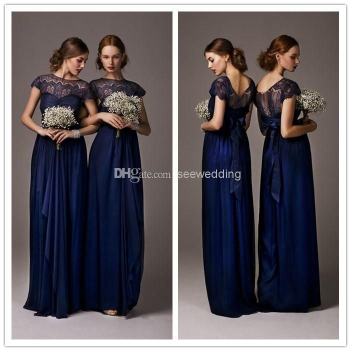 1000  images about Bridesmaid Dresses on Pinterest  Midnight blue ...