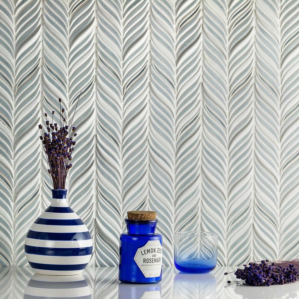 Splashback Tile Oracle Alula Arctic Blue 10 1 4 In X 11 7 8 In X 10mm Glazed Ceramic Mosaic Tile Brqpetlsk Blue Mosaic Tile Ceramic Mosaic Tile Blue Ceramics