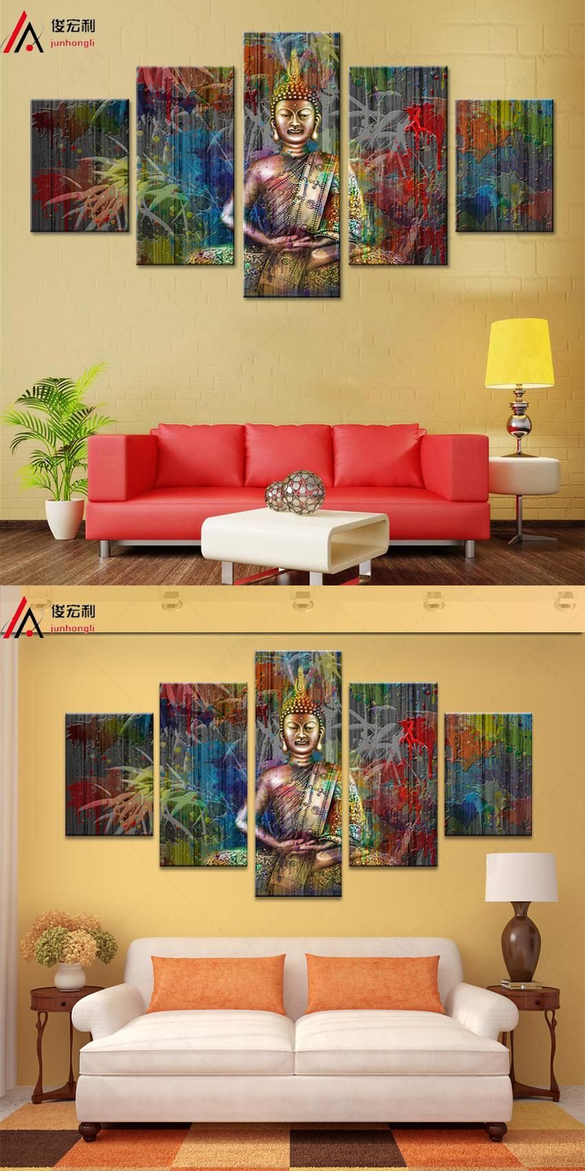 Visit to Buy] 5 piece canvas art wall art canvas prints modular ...