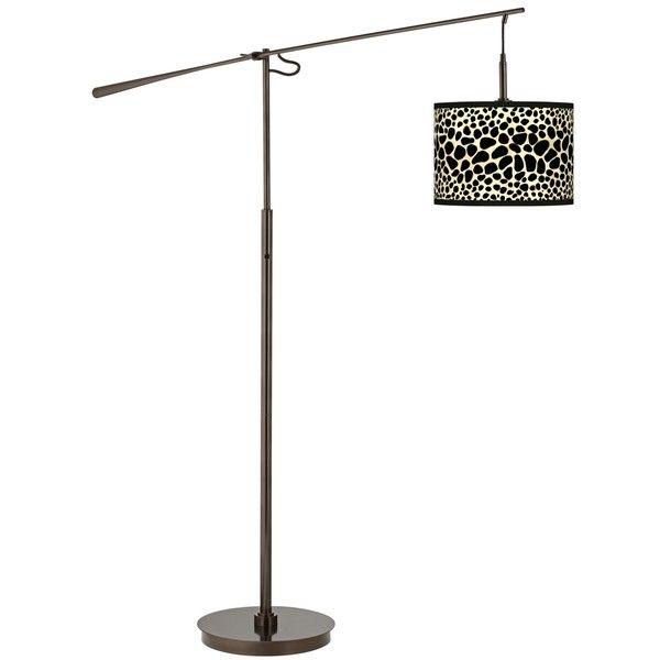 Leopard Giclee Glow Bronze Balance Arm Floor Lamp (245 CAD) ❤ liked ...