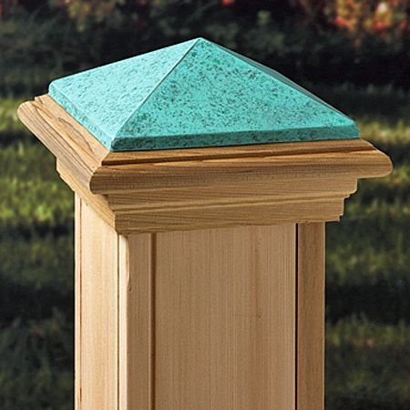 Metal Deck Post Cap Pyramid Style Patina For 6x6 Posts Metal Deck Deck Post Caps Deck Posts