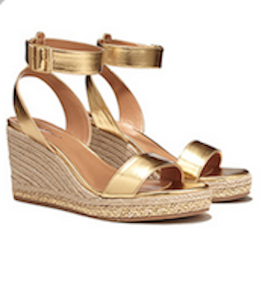 gold Lily Pulitzer wedges