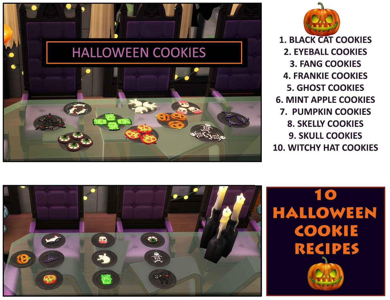 Mod The Sims Spooky Cookies TS4 Edition (Updated