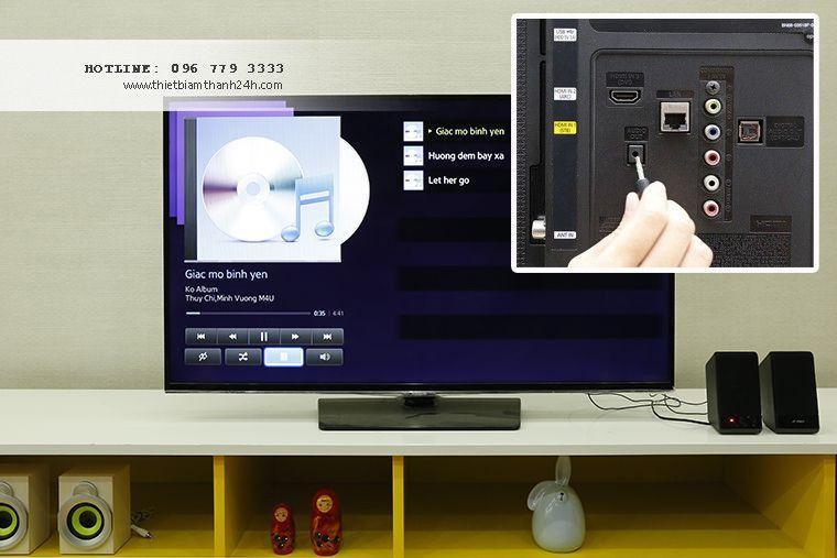 Xuất âm thanh từ tivi ra loa giúp bạn có thêm nhiều trải nghiệm âm thanh sống động. Hãy cùng Khang Phú Đạt Audio tìm hiểu cách kết nối loa với tivi. http://thietbiamthanh24h.com/kinh-nghiem-su-dung/cach-xuat-thanh-tu-tivi-ra-loa-bang-jack-3-5-mm