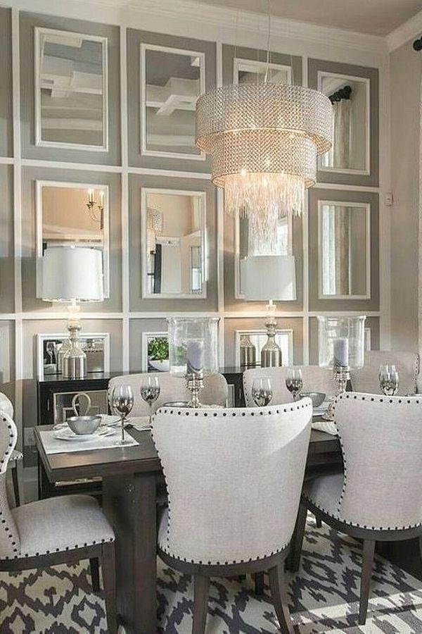 Living Room Design Mirror Table Furniture Interior Design Mirror Dining Room Elegant Dining Room Luxury Dining