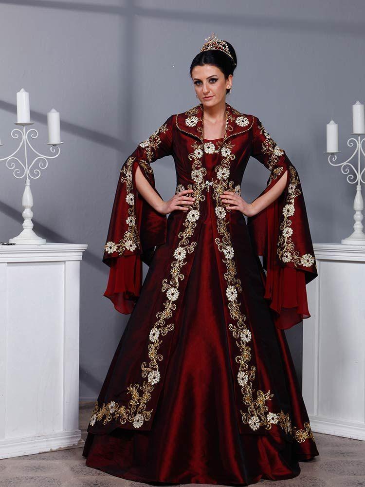 Kaftan Bindalli Kina Elbisesi Gurru Ortacag Elbisesi Kiyafet Moda Stilleri
