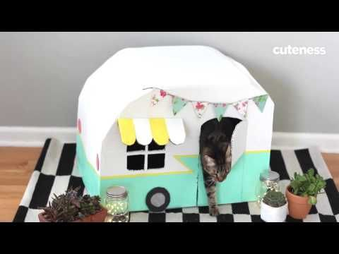 This DIY Cardboard Kitty Camper Is Paws Down the Cutest Thing We ve Ever Seen