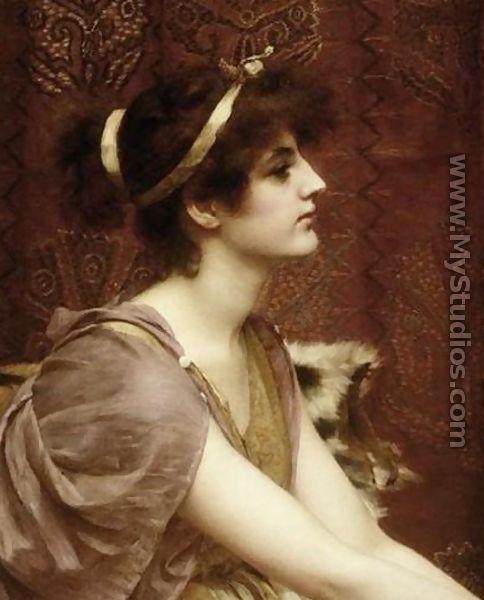 A Classical Beauty I 2 By John William Godward John William Godward Beauty In Art Woman Painting