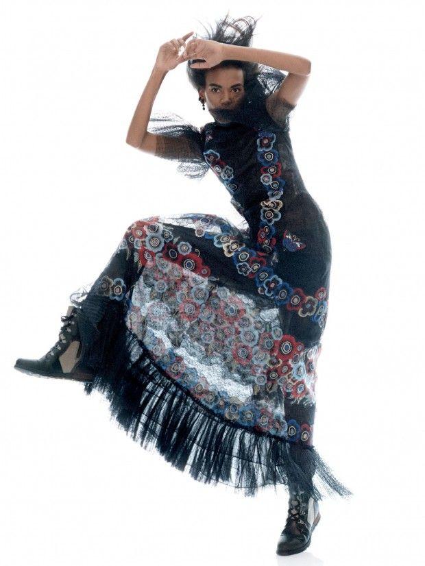 Hustle & Bustle: Liya Kebede by David Sims for Vogue US September 2015 - Valentino Fall 2015