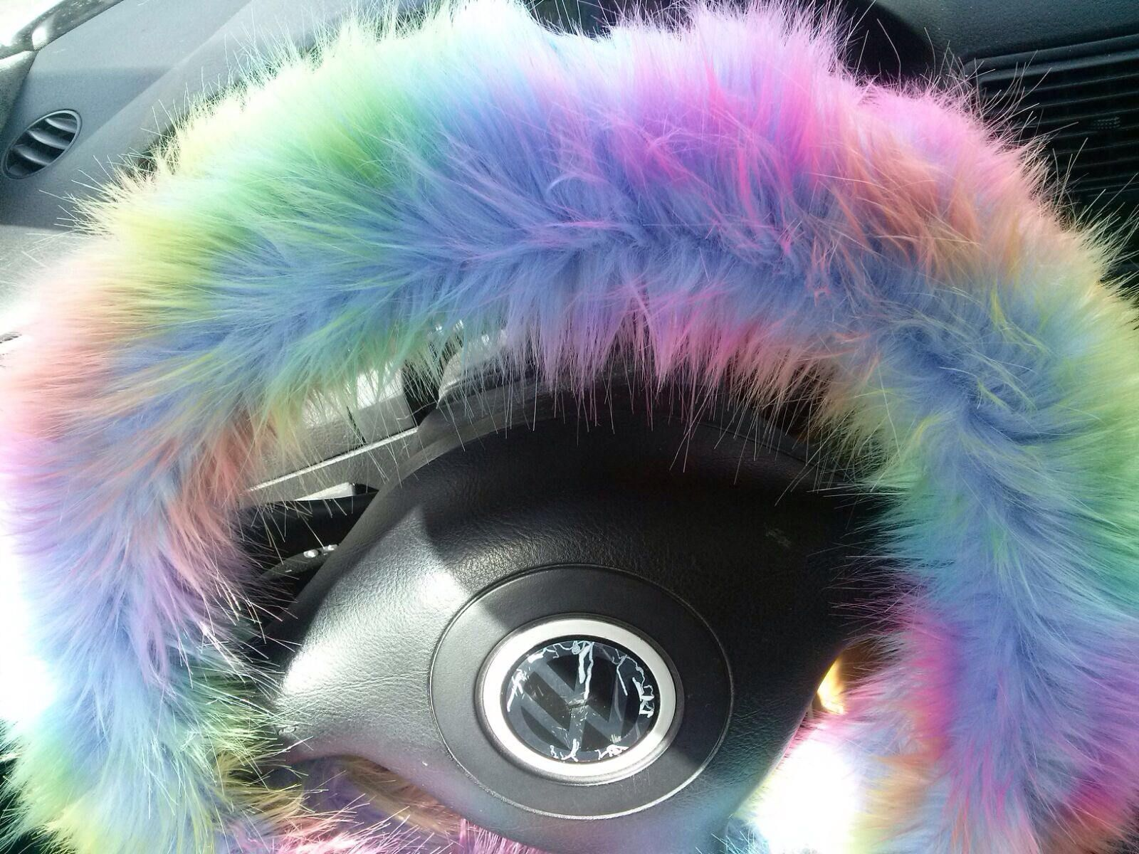 Fuzzy Car Accessories, Steering Wheel Cover, Gear Shift Knob