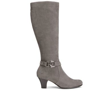 Womens Boots Aerosoles Pariwinkle Grey Fabric