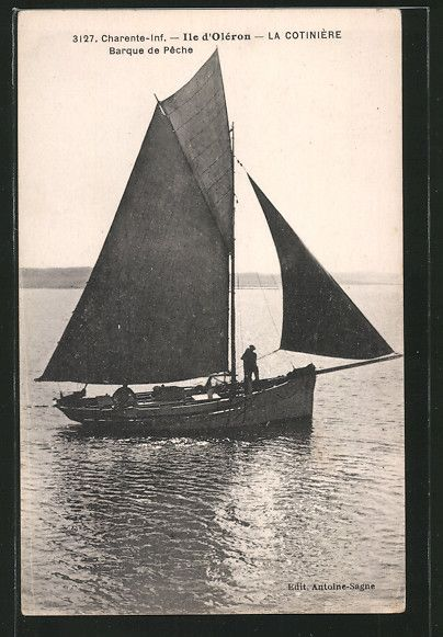 Cpa Ile D Oleron La Cotiniere Barque De Peche Pecheurboot