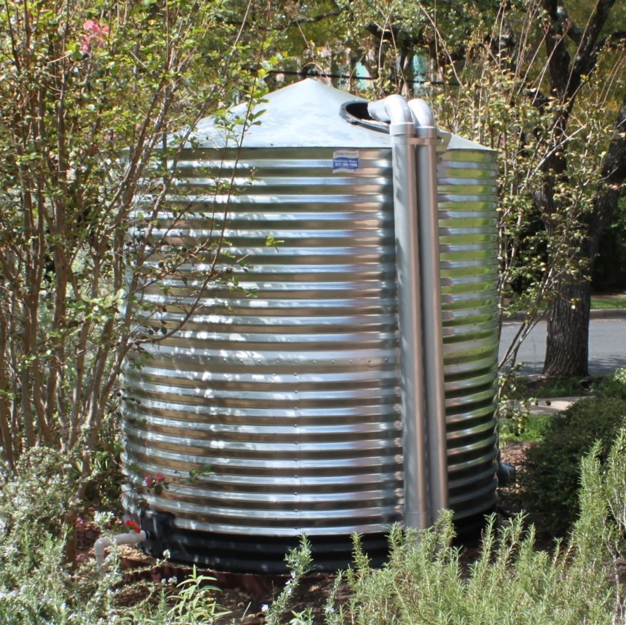 1000 Gallon Steel Tank Water Storage Tanks Rain Water Tank Rain Water Collection