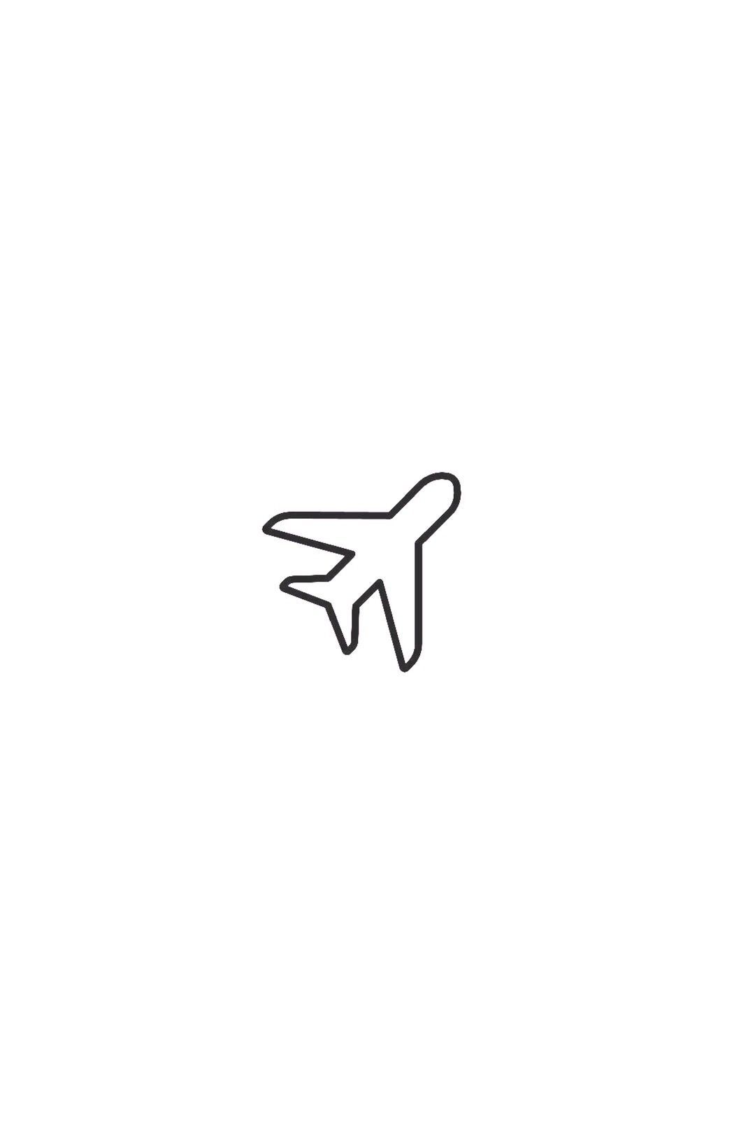 small airplane drawing easy
