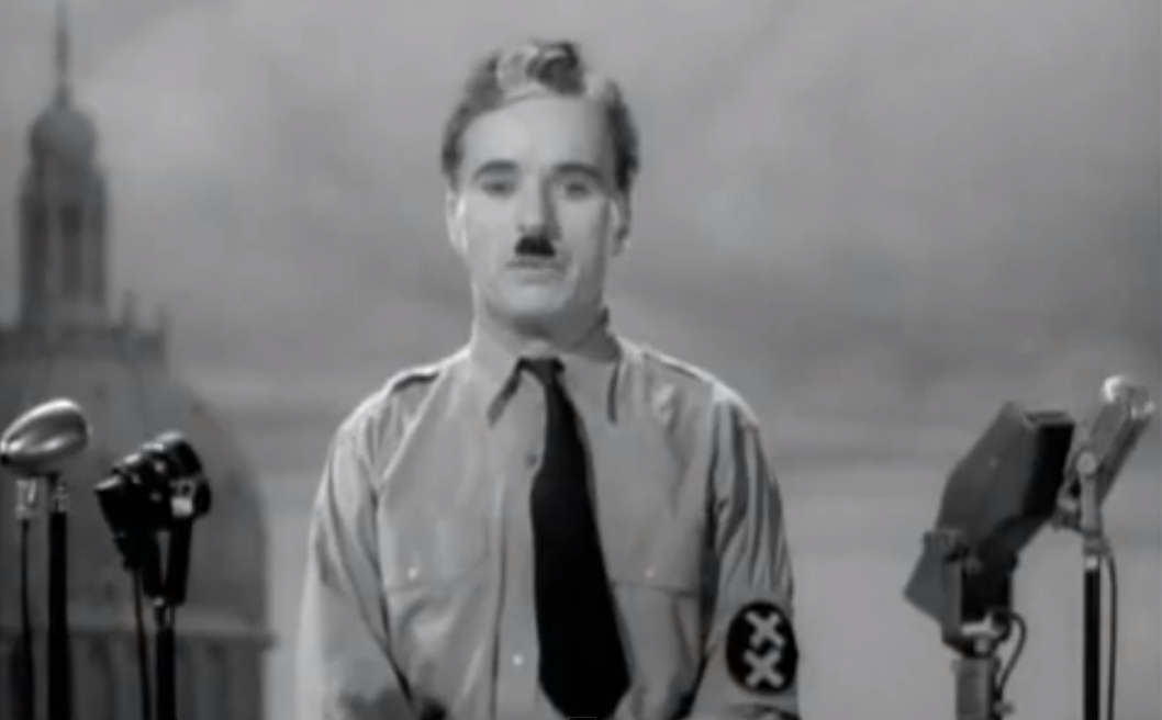 The Great Dictator Charlie chaplin, Inspirational