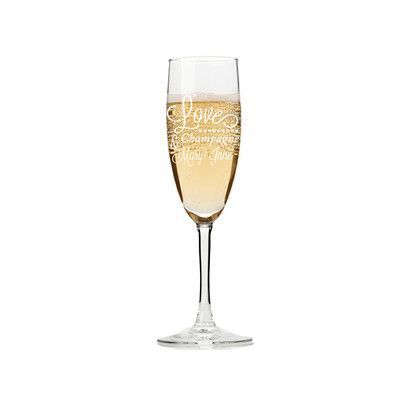 Chloe and Madison Love, Champagne and Mary Jane 5.75 oz. Champagne Flute