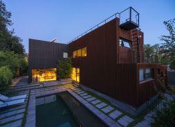 Casa Velasco Arquitectos Mathias Klotz Producto Fachadas Quadrolines 30x15 Cortinas Y