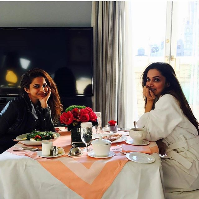 "Deepika Padukone and Shaleena Nathani enjoying the New York City mornings- ""I got the hottest valentine in the town"" Shaleena Nathani  . Truluy the hottest valentine! ❤"